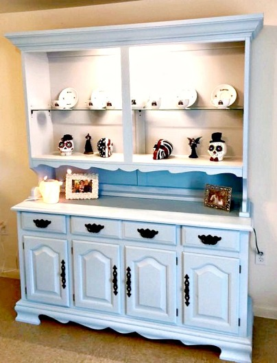 Thrift Store Hutch Makeover